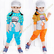 Kids Girl 3-Pieces Clothes Cartoon Sweatshirts Pants Outfit Clothing Sets FT143