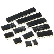 10pcs 2.54mm Single Row Pitch PCB Socket Straight Female Header Connector Pins