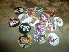 PRE CUT ONE INCH IMAGES MEXICO DAY OF THE DEAD!  FREE SHIPPING