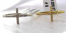 Sideways Cross Sterling Silver .925 Ring Sterling Silver or Gold Plated Sterling