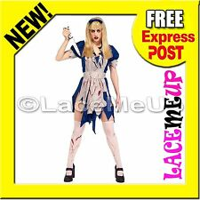 Licensed MALICE IN HORROR LAND Wonderland Costume Fancy Halloween Scary Dress