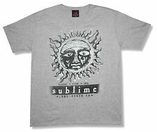 "SUBLIME ""RPS DISTRESSED"" GREY V-NECK T-SHIRT NEW ADULT OFFICIAL SUN LONG BEACH"