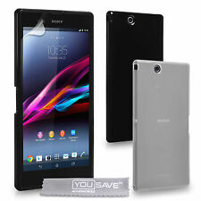 Accessories For The Sony Xperia Z Ultra Silicone Gel Case Cover & Screen Film UK