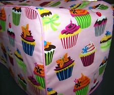 Pink Cupcakes Quilted Fabric 2-Slice or 4-Slice Toaster Cover NEW