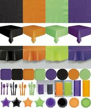 HALLOWEEN PARTY TABLEWARE TABLECOVERS, PLATES NAPKINS BALLOONS PARTY BAGS