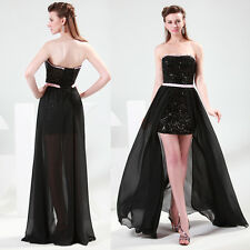 Short front&long Back Formal Prom Dresses Party Bridesmaid Evening Ball Gowns