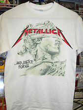 METALLICA AND JUSTICE FOR ALL CHROME STATUE T-SHIRT NEW !