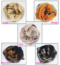 New Lady Fashion Womens girls beautiful Big skull scarf wrap shawl Stole Scarves