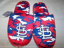 2013 St. Louis Cardinals MLB Team Color Camo Camouflage Mens Slippers