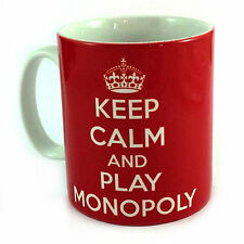 KEEP CALM AND PLAY MONOPOLY GIFT MUG CUP PRESENT PLAYER GAME CHRISTMAS FAMILY