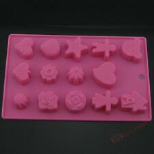 Candy Chocolate Cookies Cake Silicone Mold Ice Tray Boy Love Girl House Flowers