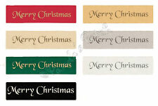 Berisfords Merry Christmas Satin Ribbons 7 Colours 10mm or 25mm - Choose Length