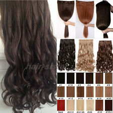 Long Straight/Curly/Wavy Hair Extension Clip in Hair Extensions 5 Clips 20 Color