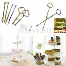 Top Sunflower Cake Plate Stand Centre Handle Fitting Hardware Rod 3 Tier 14""