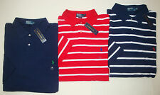NWT $95 Polo Ralph Lauren Mesh Shirt Mens XLT 2XLT  3XLT Short Sleeve Navy NEW