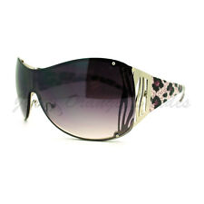 Womens Oversized Shield Sunglasses Trendy Sexy Animal Prints