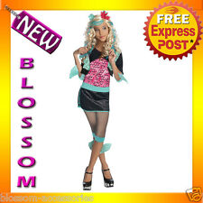 CK53 Child Girl Monster High Lagoona Blue Costume Fancy Dress Up Party Outfit