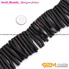 "Natural Black/Gold Coral Gemstone Beads Strand 15"",  Branch-shape, About 50mm"