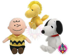 """TY BEANIE BABIES CHARLIE BROWN WOODSTOCK SNOOPY 6"""" PLUSH SOFT TOY"""