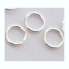 925 Sterling SILVER Open Jump Rings 5mm 22 gauge solid silver bright round R15