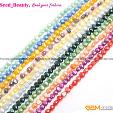 jewelry making 6-7mm freeform white purple pink red freshwater pearl beads 15""