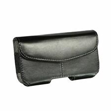 New Black Velcro Wallet Belt Clip Leather Holster Pouch Case for Cell Phones