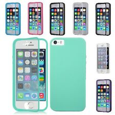 For Apple iPhone 5S / 5 Wrap Up TPU Skin Case Cover W/ Built in Screen Protector