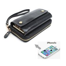 Women's Genuine Leather Wallet Purse Key Case Phone Case for Iphone 4 5s 191