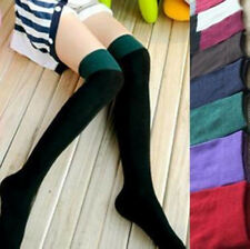 Fashion Lady Women's Two Tone Thigh High Over The Knee Socks Hot