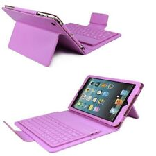 Leather Case Stand w Detachable Bluetooth Wireless Keyboard for Apple iPad Mini