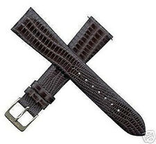 NEW KREISLER GENUINE BLACK LIZARD WATCH BAND U PICK SIZE REG $25