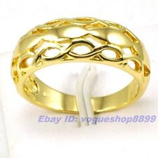 Size 5,6 RING, REAL NOBBY 18K YELLOW GOLD PLATED SOLID FILL GP EMPAISTIC 4948r