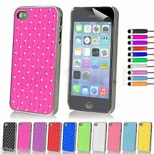 New Diamond Bling Case Cover For Apple iPhone 4 4S 5 +Screen Protector + Stylus