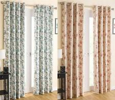 BLOSSOM SERENITY THERMAL ROOM DARKENING EYELET RINGTOP LINED CURTAINS Many Sizes