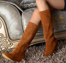 Matte leather British wind Oxford Wedges Broadcloth Female High boots LKS683
