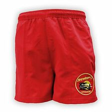 BAYWATCH LICENSED ® RED LIFEGUARD LINED SWIM SHORTS RETRO S-2XL FANCY DRESS NEW