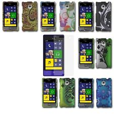 For HTC Tiara 8XT Sprint Rubberized Design Hard Cover Case+Screen Protector
