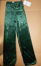 NWT Body Wrappers Crushed VELVET LYCRA DANCE JAZZ PANTS DANCE GIRLS Green