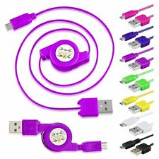 Micro USB Retractable Data Sync Cable for Samsung HTC Motorola Cellphone Tablet