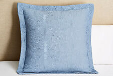 MATELASSE QUILTED EURO SHAM : HOTEL COTTON EUROPEAN TILE MEDALLION PILLOW COVER