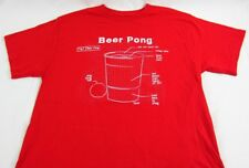 Mens NEW Spencers Beer Pong Diagram Red Short Sleeve T-Shirt Size L XL 2XL