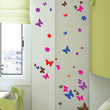 100 Butterfly Flower Art Children Wall stickers Car Decals-multi colour