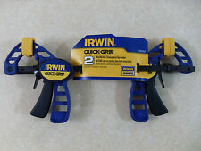 "2 Pack Irwin Quick Grip 4 1/4"" Micro Bar Clamp & Spreader 530062 ~ Same Day Ship"