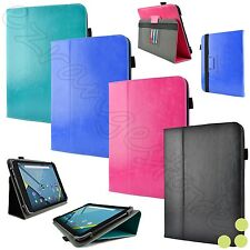 "caseen 7"" - 8"" Inch Universal Adjustable Folio Stand Tablet Case Cover NEW"