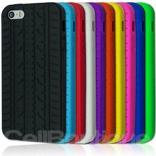 Tyre Tread Silicone Case For Apple iPhone 4s 5s Rubber Cover Screen Protector