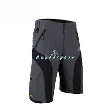Loose Fit Cycling Bicycle Bike MTB Shorts Leisure Half Pants+4D Padded Underwear