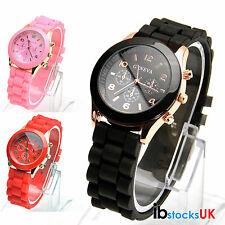 NEW JELLY LADIES GENEVA MENS WOMENS KIDS GIRLS WRIST WATCH RUBBER SILICONE XMAS