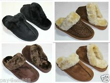 Brand New Women's Soft Fur Lined Warm Comfortable Slipper Shoes Fast Shipping