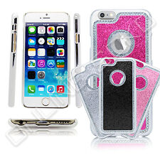 New Bling diamante Glitter Chrome Case fits iphone 4 4s 5 5s 5C screen protector