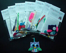 Make Your Own Felt Owl Keyring Craft Kit - Great Gift Idea